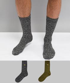 2 пары носков (зеленые, черные) Lyle & Scott - Мульти