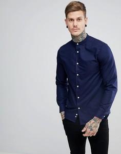 Темно-синяя рубашка с воротником на пуговице Lyle & Scott - Темно-синий