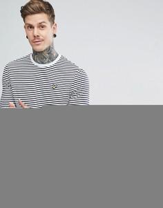Темно-синяя футболка в бретонскую полоску с длинными рукавами Lyle & Scott - Темно-синий
