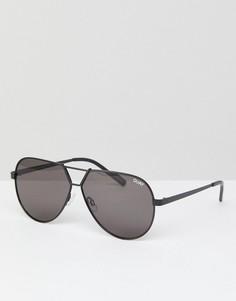 Черные солнцезащитные очки-авиаторы Quay Australia Supernova - Черный