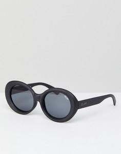 Черные солнцезащитные очки кошачий глаз Quay Australia Mess Around - Черный