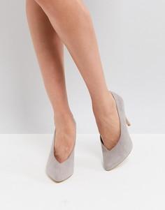 Туфли-лодочки с острым носком New Look - Серый
