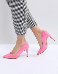 Лакированные туфли-лодочки на высоком каблуке с заостренным носком New Look - Розовый