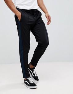 Зауженные брюки с полосками Selected Homme - Черный