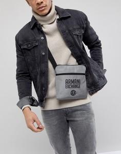 Серая сумка для авиаперелетов с логотипом Armani Exchange - Серый