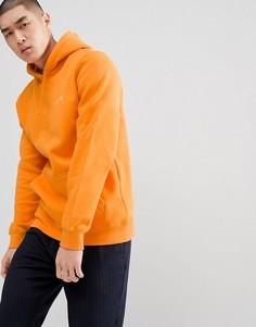 Худи с принтом логотипа на спине Stussy - Оранжевый