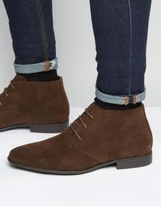 Коричневые ботинки чукка из искусственной замши ASOS - Коричневый