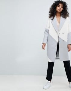 Oversize-пальто колор блок ASOS - Мульти
