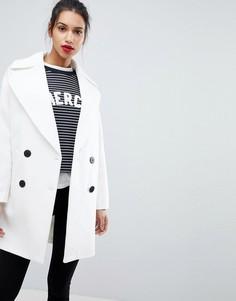 Пальто-кокон ASOS - Белый