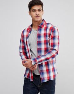 Красная клетчатая рубашка узкого кроя с логотипом-флажком Tommy Jeans - Красный Hilfiger Denim