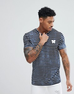 Темно-синяя обтягивающая футболка в полоску Good For Nothing эксклюзивно для ASOS - Темно-синий