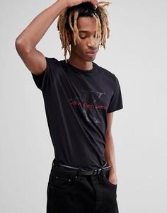 Футболка с логотипом Calvin Klein Jeans Re-Issue - Черный