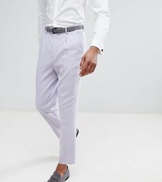 Суженные книзу строгие сиреневые брюки с сетчатыми рисунком ASOS TALL Wedding - Фиолетовый