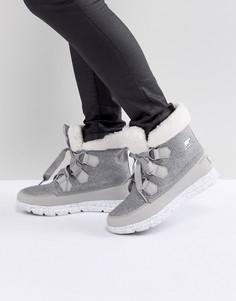 Серые непромокаемые ботинки Sorel Explorer Carnival - Серый