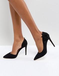 Туфли-лодочки с цветочной отделкой Call It Spring - Черный
