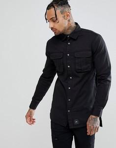 Свободная черная рубашка карго Sixth June - Черный