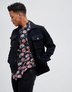 Замшевая куртка в стиле вестерн с карманами Barneys Originals - Темно-синий