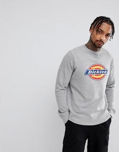 Серый свитшот с крупным логотипом Dickies Harrison - Серый