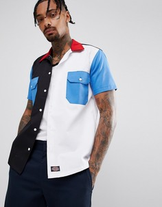 Контрастная рубашка с карманами Dickies Ovalo - Темно-синий