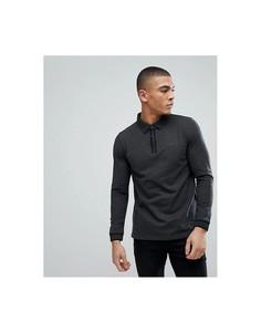 Футболка-поло с длинными рукавами Esprit - Серый