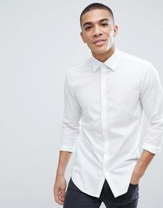 Белая облегающая рубашка из хлопкового поплина Esprit - Белый