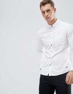 Белая оксфордская рубашка узкого кроя с воротником на пуговицах Esprit - Белый