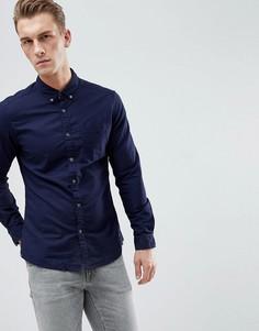 Темно-синяя оксфордская рубашка узкого кроя с воротником на пуговицах Esprit - Темно-синий