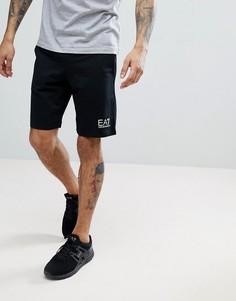 Черные трикотажные шорты с логотипом EA7 - Черный