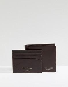 Подарочный набор с бумажником и визитницей Ted Baker Twixxle - Коричневый