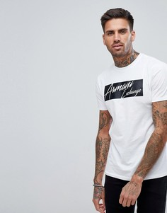 Белая узкая футболка с логотипом Armani Exchange - Белый
