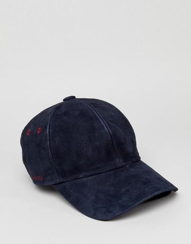 Замшевая бейсболка Ted Baker - Темно-синий