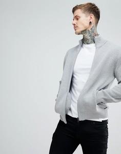 Серый трикотажный джемпер на молнии Armani Exchange - Серый