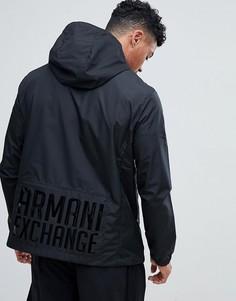 Черная куртка с капюшоном Armani Exchange - Черный