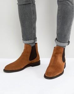 Замшевые ботинки челси Selected Homme - Коричневый