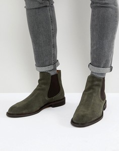 Замшевые ботинки челси Selected Homme - Зеленый