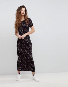 Вязаное платье макси Free People Caroline - Черный