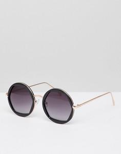 Круглые солнцезащитные очки New Look - Черный