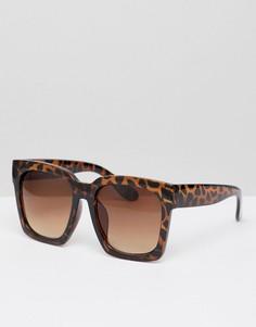 Квадратные солнцезащитные очки New Look - Коричневый