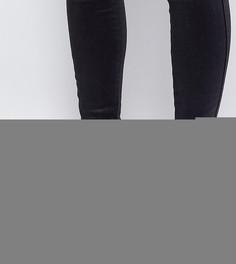 Ковбойские ботильоны в замшевом стиле для широкой стопы New Look - Черный