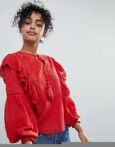 Блузка с оборками New Look - Красный