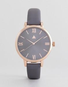 Золотисто-розовые часы с темно-серым ремешком ASOS CURVE - Медный