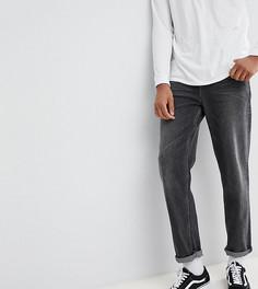 Черные выбеленные джинсы свободного кроя в винтажном стиле ASOS TALL - Черный