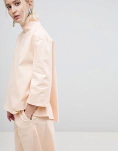 Комбинируемый джинсовый топ ASOS WHITE - Кремовый