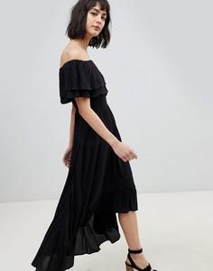 Платье макси с открытыми плечами River Island - Черный