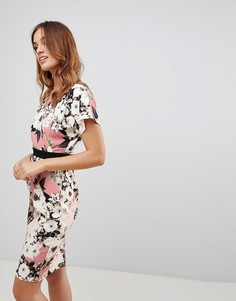 Платье-кимоно с принтом Paper Dolls - Розовый