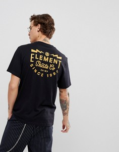 Черная футболка Element Zap - Черный