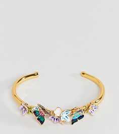 Золотистый браслет-манжета с бабочками Bill Skinner - Золотой