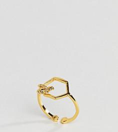 Кольцо с шестиугольным дизайном Bill Skinner - Золотой