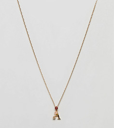 Ожерелье с подвеской А Bill Skinner - Золотой