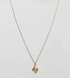 Ожерелье с подвеской М Bill Skinner - Золотой